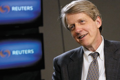 Yale professor Robert Shiller speaks during an interview in New York